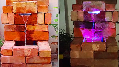 How To Make A Brick Waterfall | DIY Joy Projects and Crafts Ideas