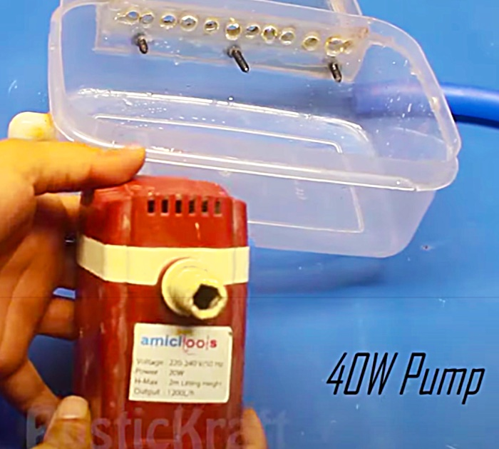 Make A Waterfall Out Of An Old Tupperware Container With A Pump