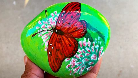 How To Paint Butterfly Rocks | DIY Joy Projects and Crafts Ideas