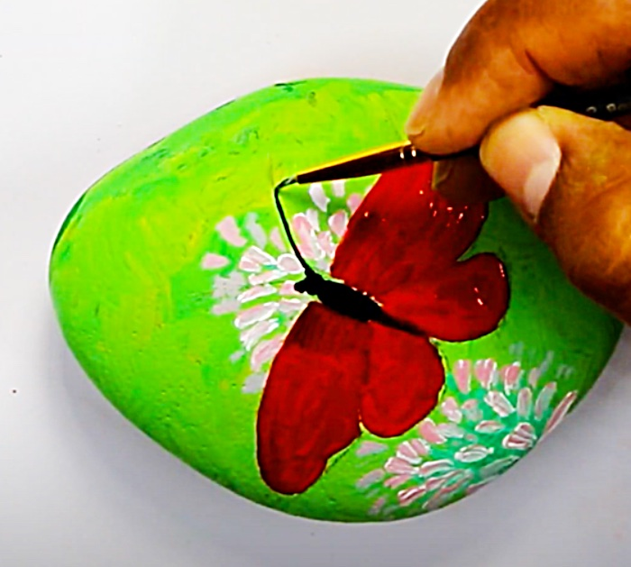 Cover Your Painted Rock With Clear Gloss Paint