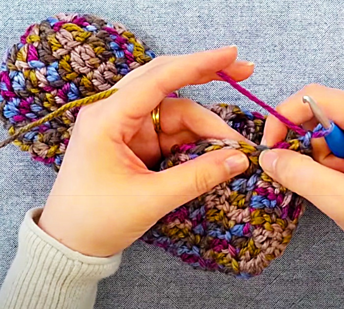 Tie Off Crochet Adult Booties To Finish The Project
