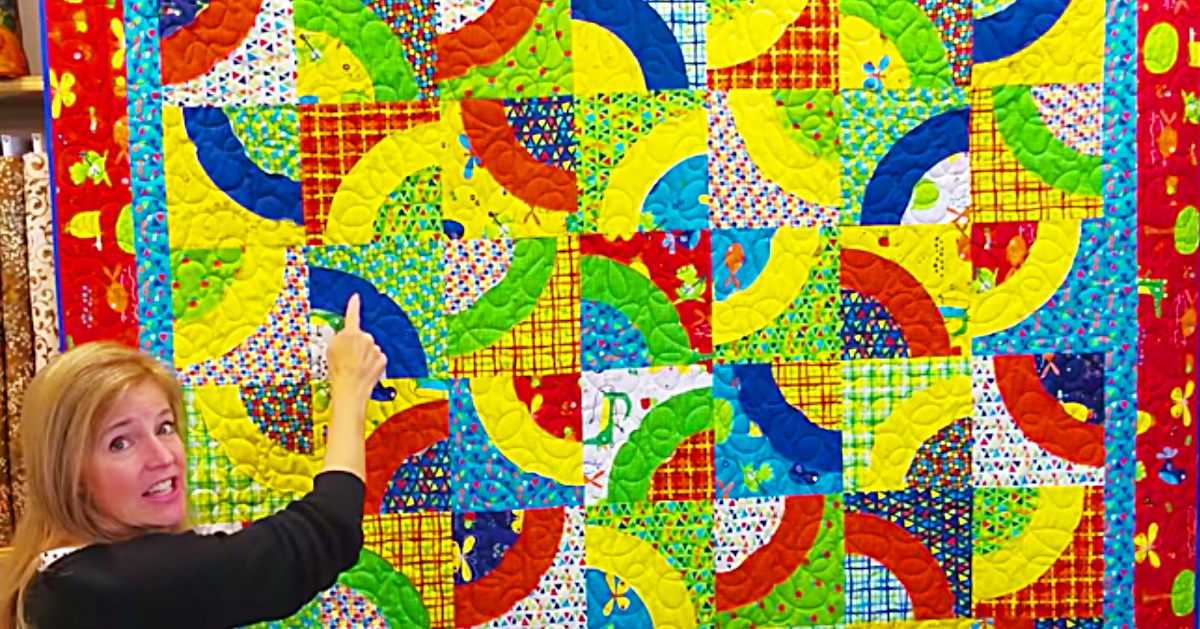 How To Make A Curvaceous Quilt By Donna Jordan
