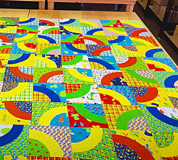 Place Quilt Blocks Together To Make A Curvaceous Quilt