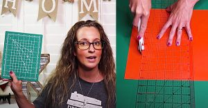 How To Turn Dollar Tree Small Cutting Mats Into A Large One