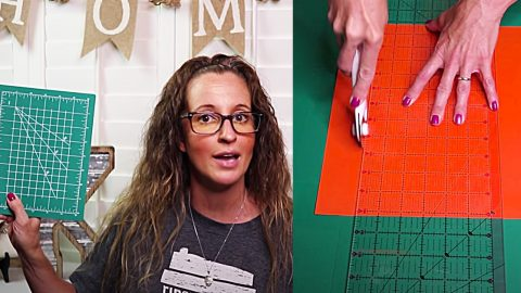 How To Turn Dollar Tree Small Cutting Mats Into A Large One | DIY Joy Projects and Crafts Ideas