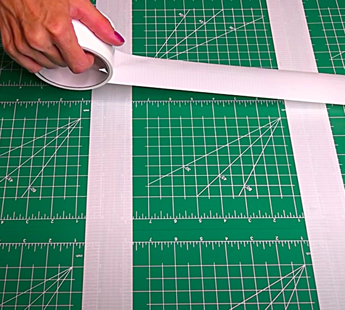 Tape Small Cutting Mats Together Using Duct Tape To Make a Large Cutting Mat