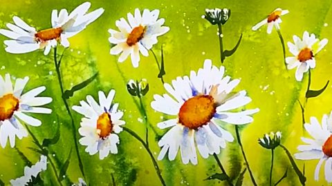 How To Paint Watercolor Daisies   DIY Joy Projects and Crafts Ideas