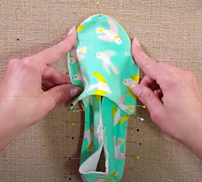 Use Straight Pins To Make Espadrille Shoes