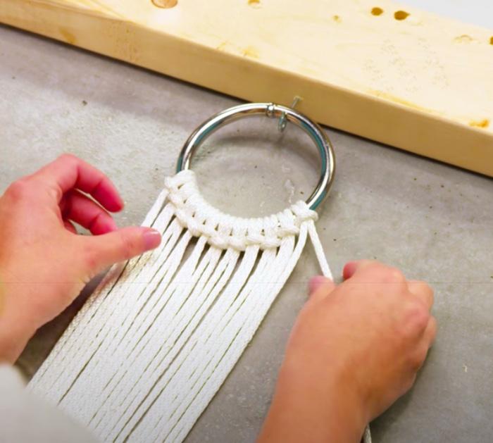 Make a Macrame Fastener For A DIY Hammock