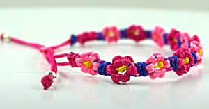 How To Make A Flower Macrame Bracelet