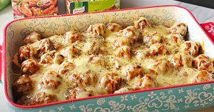 Dump and Bake Meatball Casserole Recipe