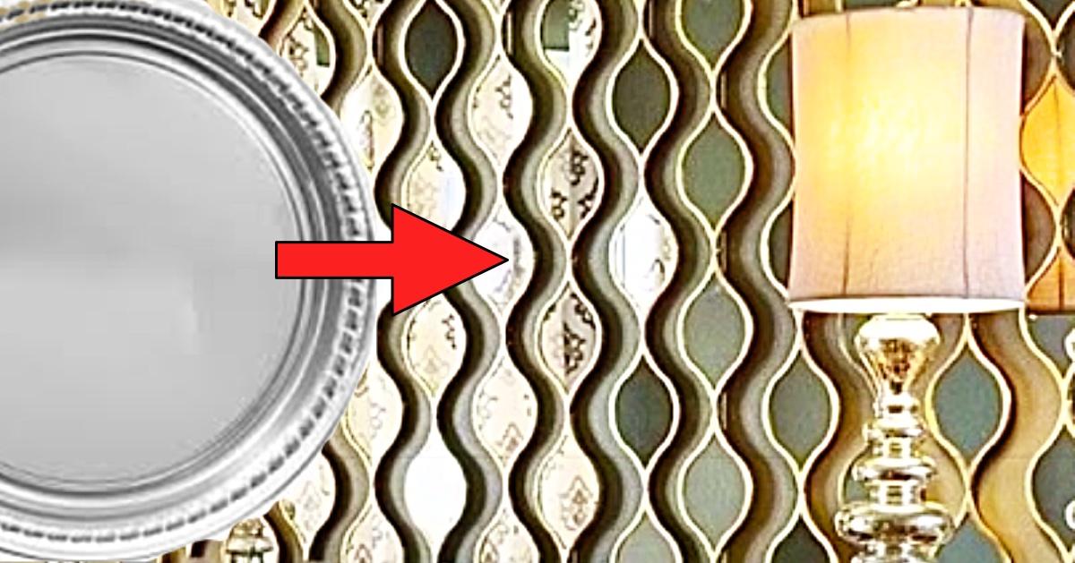 How To Make A Dollar Tree Teardrop Wall Mirror