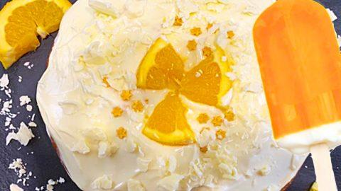 Orange Creamsicle Poke Cake Recipe   DIY Joy Projects and Crafts Ideas