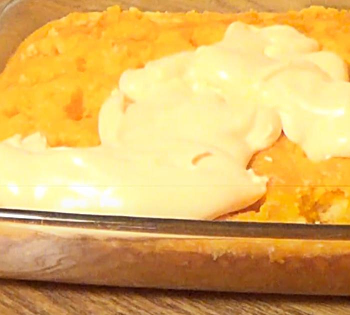 Use Buttercream Frosting For An Orange Poke Cake