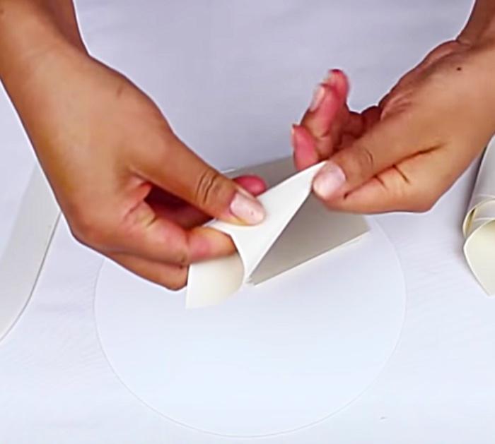 Make Cones For Paper Dahlias