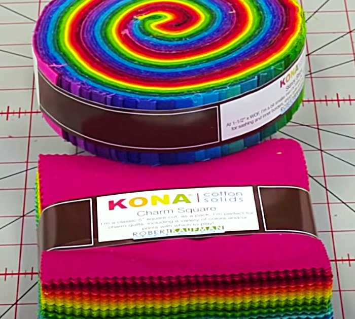 Use A Kona Charm Pack And Kona Mini Strips For A Pineapple Quilt