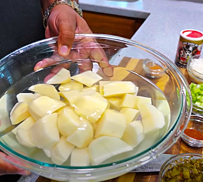 Boil Potatoes For Southern Style Potato Salad