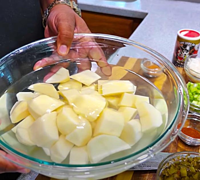 Boil Potatoes For Southern Style Potato Salad