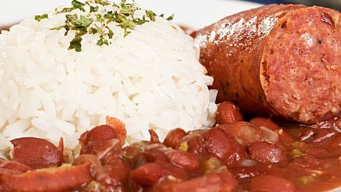 Crockpot Cajun Red Beans And Rice Recipe With Andouille Sausage   DIY Joy Projects and Crafts Ideas