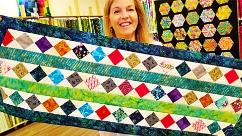Donna Jordan Scrap Buster Table Runner | DIY Joy Projects and Crafts Ideas