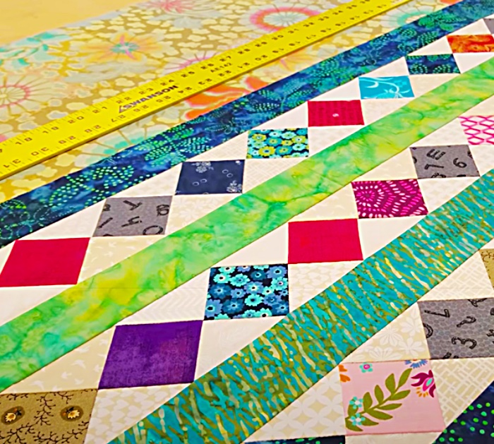 Make A Jelly Roll Strip Scrappy Table Runner