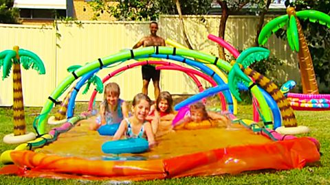 How To Make An Outdoor Slip And Slide | DIY Joy Projects and Crafts Ideas