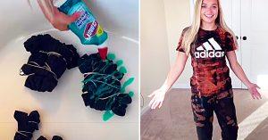 How to Make A Tie-Dye Sweat Set Using Gel Bleach
