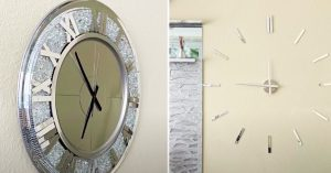 How To Make An Oversize Dollar Tree Living Room Clock