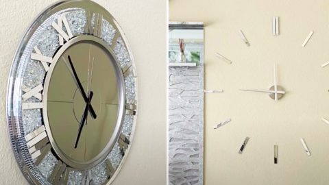 How To Make An Oversize Dollar Tree Living Room Clock | DIY Joy Projects and Crafts Ideas