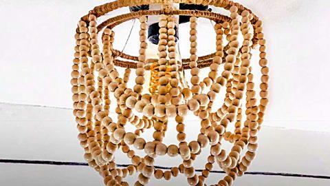 Dollar Tree DIY Wood Bead Chandelier | DIY Joy Projects and Crafts Ideas