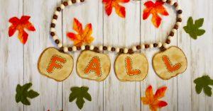 Fall Crafts: DIY Dollar Tree Pumpkin Garland