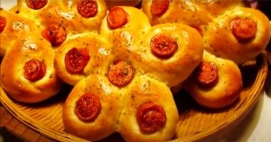 Sausage Flower Bread Recipe