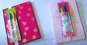 Sewing Project: DIY Notebook Pen Holder