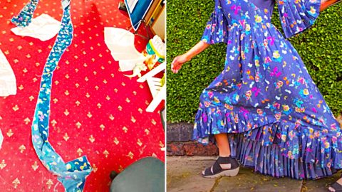 How To Sew Pleats Using  Fork | DIY Joy Projects and Crafts Ideas