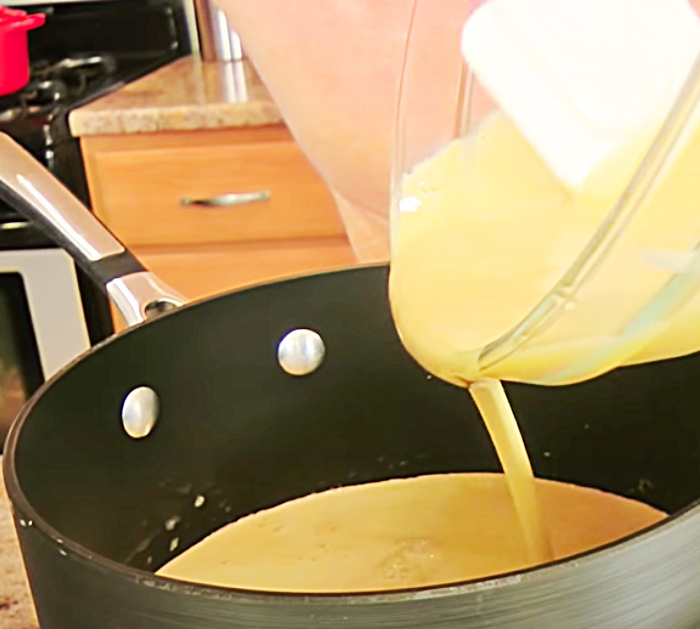 Cook Ice Cream In A Saucepan Before You Put It In The Ice Cream Freezer - How To Make Coffee Ice Cream