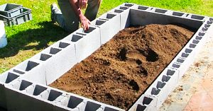 How To Make a Cinder Block Raised Garden Bed