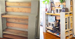 How To Make A Cinder Block Shelving Unit