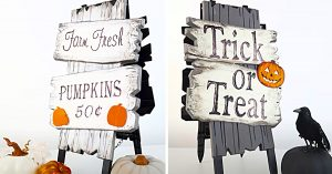 How To Make a Dollar Tree Reversible Easel Sign