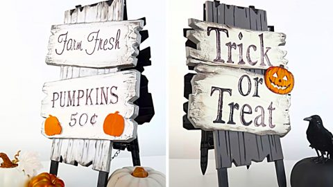 How To Make a Dollar Tree Reversible Easel Sign | DIY Joy Projects and Crafts Ideas