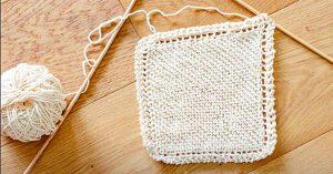 How To Knit A Farmhouse Washcloth