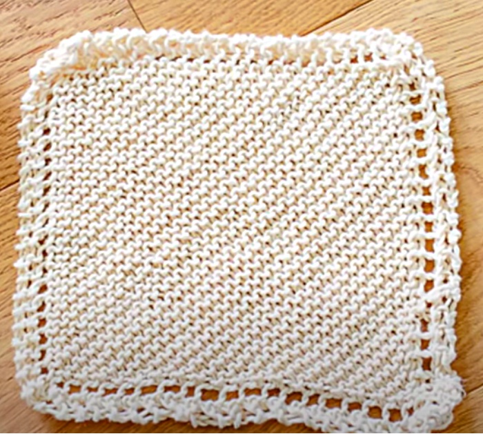 Use Organic Cotton To Knit The Best Washcloth