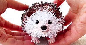 How To Make A Paper Hedgehog