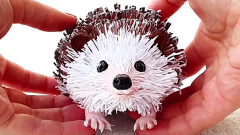 How To Make A Paper Hedgehog | DIY Joy Projects and Crafts Ideas