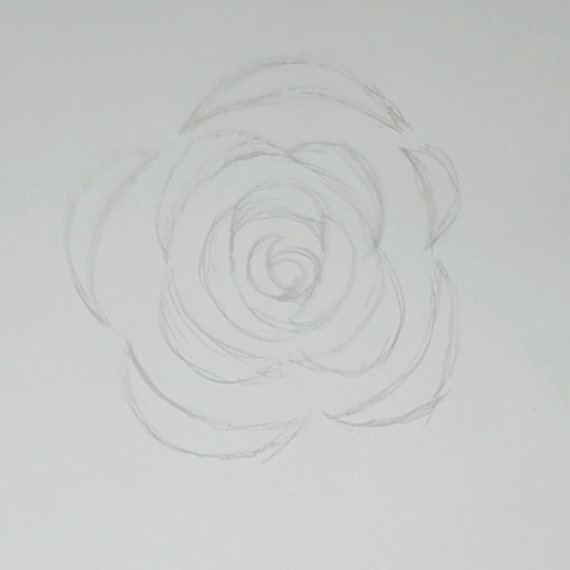 Learn How to Draw Roses - Step One for Easy Rose Drawing Tutorial - Easy Teen Crafts and DIY Ideas - Step by Step Easy Drawing Tutorials