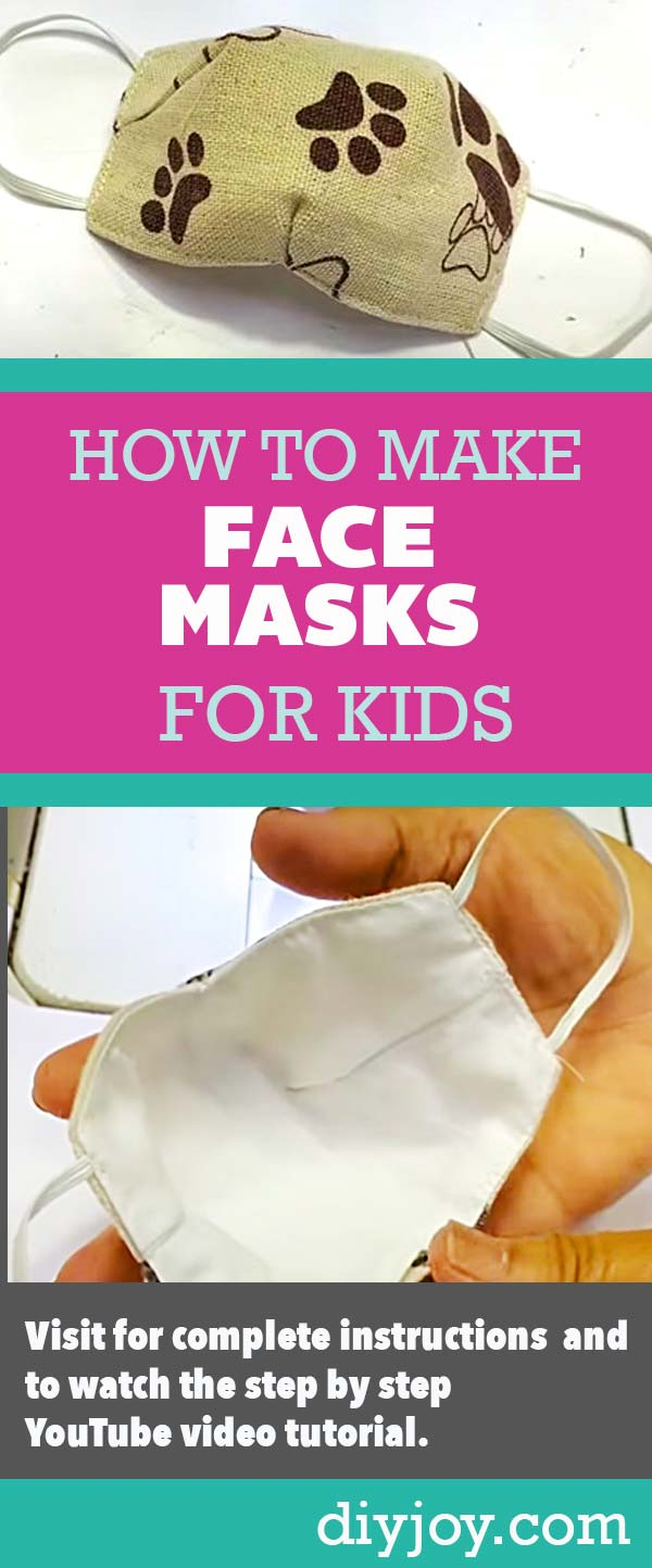 How to Make a Kids Face Mask With Free Pattern and YouTube Video Sewing Tutorial - Step by Step Instructions for Making Small Face Masks for a Child