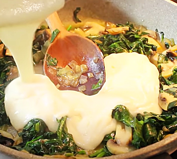 How To Make Bechamel Sauce _ Turkish Casserole - Spinach Dinner