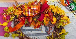 How To Make A 6-Minute Fall Wreath