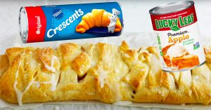 Apple Strudel With Canned Crescent Rolls