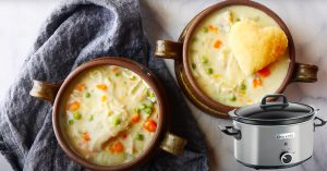 Crockpot Chicken Pot Pie Soup Recipe