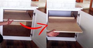 $10 DIY Roll Outs for Kitchen Cabinets